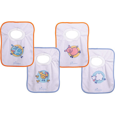 Dreambaby Farm Theme Pullover Bibs - 4 Pack