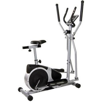 Body Flex Sports Body Champ Silver/Black Magnetic Cardio Dual Trainer Exercise Bike