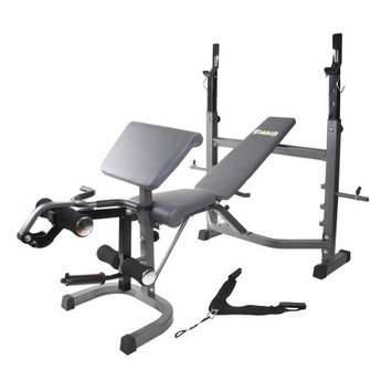 Hupa International Inc Body Champ BCB5860 Olympic Weight Bench with Preacher Curl, Leg Developer, and Crunch Handle