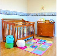 AFG Amy 3-in-1 Crib and Grace 3 Drawer Changer - Pecan