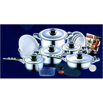 Concord Cookware Inc. Concord Cookware 19-Piece Hoffmayer Premium Surgical Stainless Steel Cookware Set