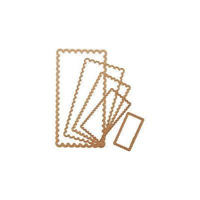 Spellbinders Nestabilities Dies - Scalloped Long Rectangle Large