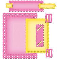 Spellbinders Nestabilities A2 Card Creator Dies-Fancy Postage Stamps