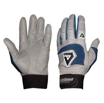 Akadema Professional Batting Gloves in Gray and Royal