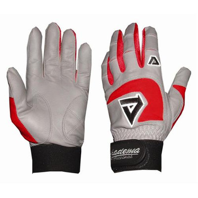 Akadema Professional Batting Gloves in Gray and Red