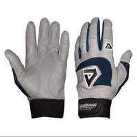 Akadema Professional Batting Gloves in Gray and Navy