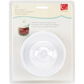 Cosmo Cricket COS-STP-68243 Show Toppers Jar Lid-Lid W/Knob - White