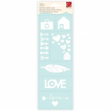 Cosmo Cricket COS-BCL-68297 Be Clear Labels-Love