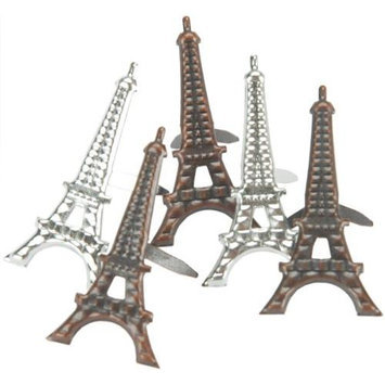 Eyelet Outlet Brads-Eiffel Tower 12/Pkg