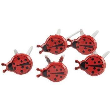 Eyelet Outlet Brads-Mini Ladybug 12/Pkg