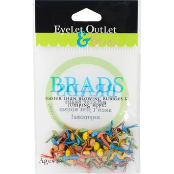 Eyelet Outlet 4mm Round Brads 70/Pkg-Fall