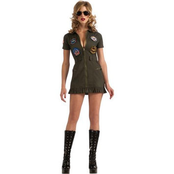 Adult Female Top Gun Flight Dress Costume by Rubies 880887, Extra Small