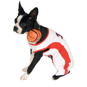 Basketball Player Dog Costume, Size Small 10-12