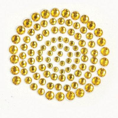 Kaisercraft Self-Adhesive Rhinestones 100/Pkg-Gold