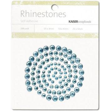 Kaisercraft SB774 Self-Adhesive Rhinestones 100-Pkg-Ice Blue