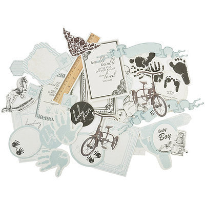 Kaisercraft Pitter Patter Collectables Cardstock Die-Cuts -Boy