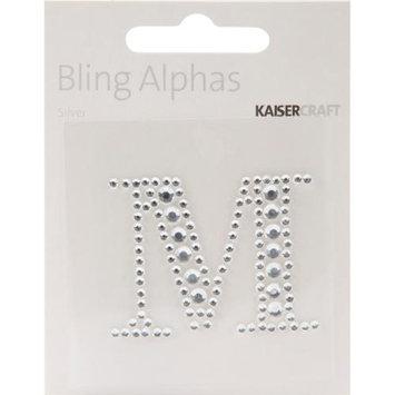 Kaiser Craft Bling Alphas Rhinestone Letter, Silver Crystal M