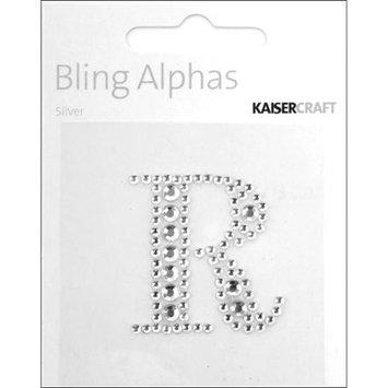 Kaiser Craft Bling Alphas Rhinestone Letter, Silver Crystal R