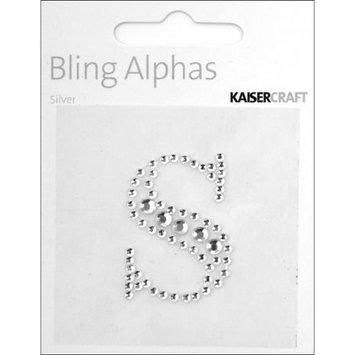 Kaiser Craft Bling Alphas Rhinestone Letter, Silver Crystal S