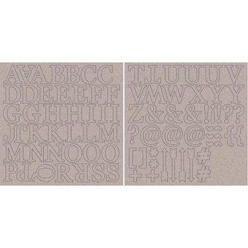 Kaisercraft CB150 Chipboard Alphabet 12X12 Sheets 2/Pkg-1.75 Uppercase Letters & Symbols