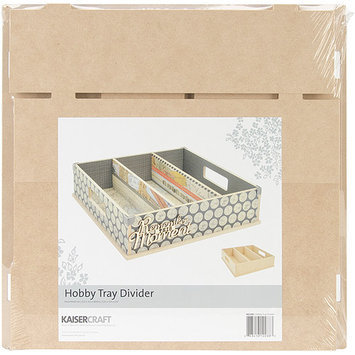 Kaisercraft Beyond The Page MDF Divider Hobby Tray-12.5X12.5X3.25
