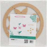 Kaisercraft Beyond The Page Mdf Birds & Butterflies Mobile-11 Round Ring W/Pieces Up To 4.25