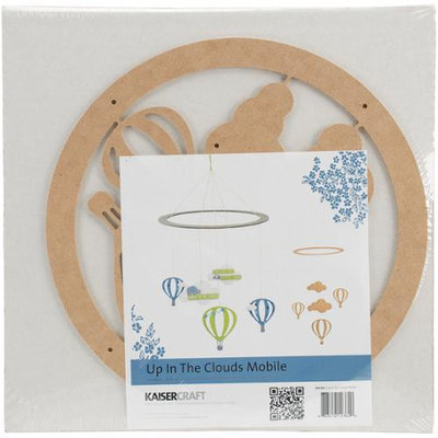 Kaisercraft Beyond The Page Mdf Up In The Clouds Mobile-11 Round Ring W/Pieces Up To 4.25