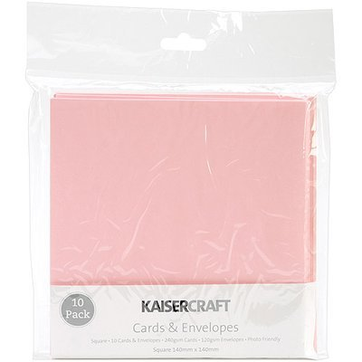 Kaisercraft Square Card Pack-Kraft