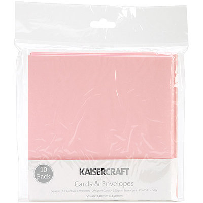 Kaisercraft Square Card Pack-Baby Pink
