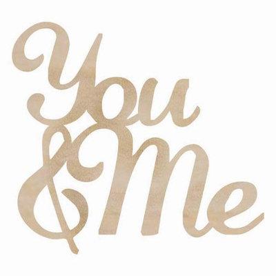 Kaisercraft Wood Flourishes Words-You & Me