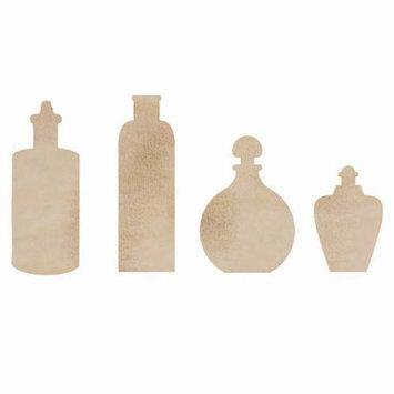 Kaisercraft Wood Flourishes-Bottles 4/Pkg