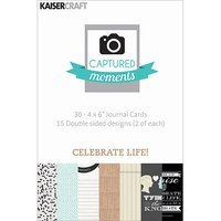 Kaisercraft Captured Moments Double-Sided Cards 6inX4in 30/Pkg-Celebrate Life!