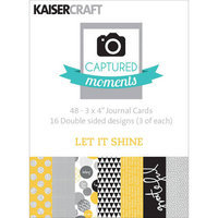 Kaisercraft Captured Moments Double Sided Cards 6inX4in 30/Pkg Sunny Siesta