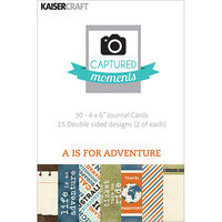 Kaisercraft Captured Moments DoubleSided Cards 6inX4in 30/PkgPretty Little Things