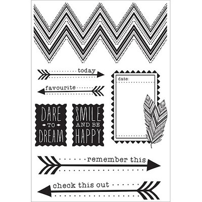 Kaisercraft Bow & Arrow Clear Stamps 6.25inX4in