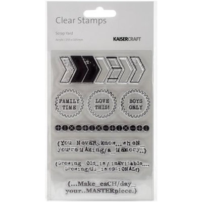 Kaisercraft Scrap Yard Clear Stamps 6.25inX4in