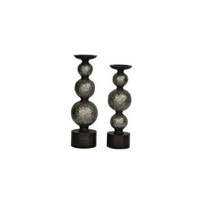 Crestview Collection CVCHE599 Tinsdale Candleholders, Set of Two