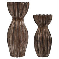Crestview Traditions 3 Piece Resin Stone Carlyle Candlestick Set