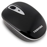 Toshiba PA3844U-1ETB Mouse - Optical - Wireless - Radio Frequency - Glossy Black