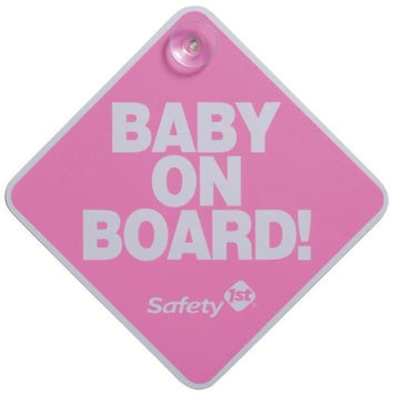 Safety 1st Baby On Board Sign - Pink