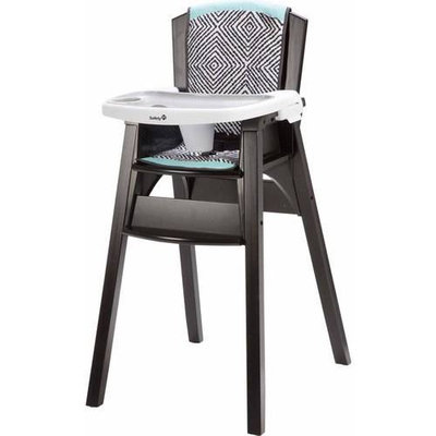 Safety 1st Decor Wood High Chair - Black Ice