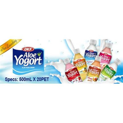 OKF AYG320 Aloe Yogurt Mango 500 ml. - Case of 20