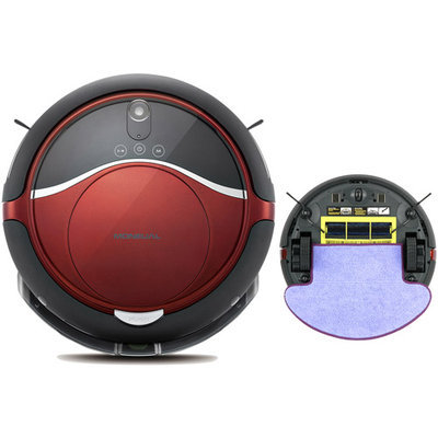 Moneual - Rydis Self-propelled Bagless Cordless Hybrid Robot Vacuum And Wet/dry Mop - Red/black