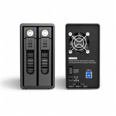 RAIDON GR3660-B3 2Bay RAID 3.5-2.5 in. SATA III HDD-SSD to USB3.0 Enclosure - 6Gbps-UASP