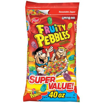 Bags Post Fruity Pebbles Cereal, 40 oz Bag