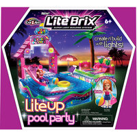Cra-z-art Girls' Lite Brix LiteUp Pool Party Playset.