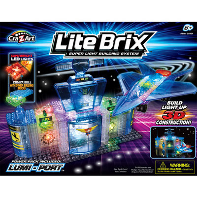 Cra-Z-Art Lite Brix 3D Construction Building System - Lumi-Port