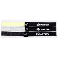 Easton A153004BKSLYL 3 Pack Glitter Headband Black/Silver/Yellow