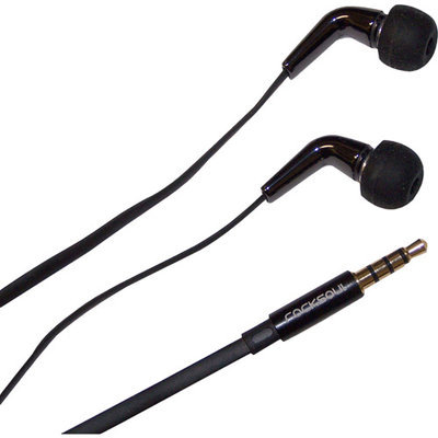 Awa Technology Inc. Rocksoul Black ER-103101BB Ceramic Stereo Earphone with Mic