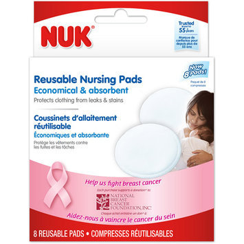 NUK Reusable Nursing Pads - 8 Count